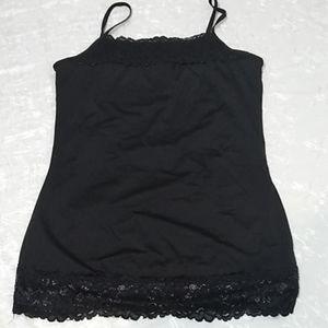 Maurice's black lace tank sz M